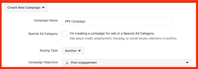 facebook ppe campaign