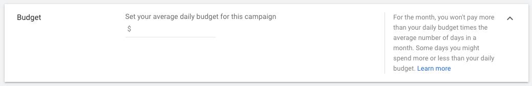 google display budget