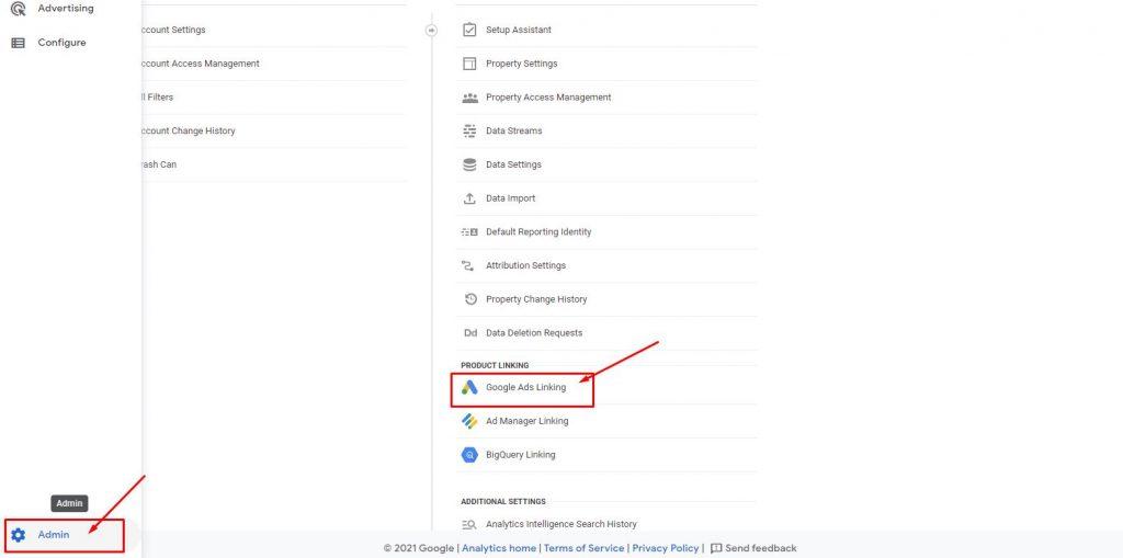 google analytics and google ads accounts linking