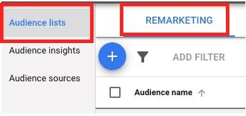 google remarketing audiences lists