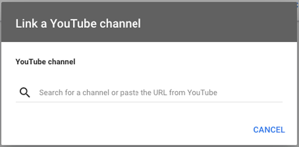 google video ads link youtube channel