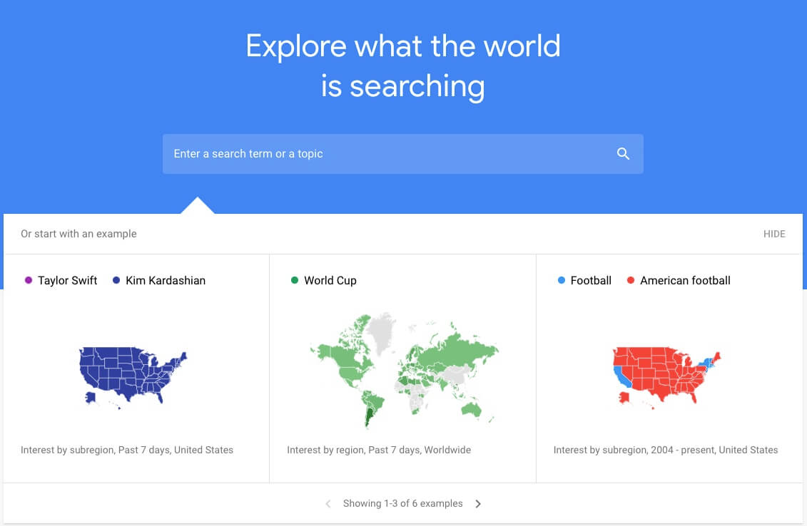 google trends page